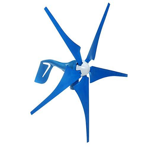 FJL Aerogenerador de Eje Vertical Generador de turbina eólica de 500W / 1000W DC 12V 5 Blades...