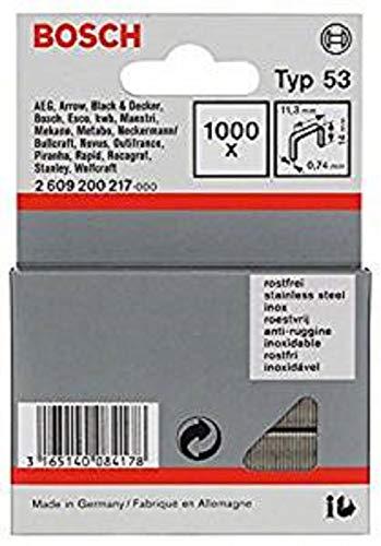 Bosch Professional Zubehör 2609200217 Feindrahtklammer Typ 53 11,4 x 0,74 x 14 mm