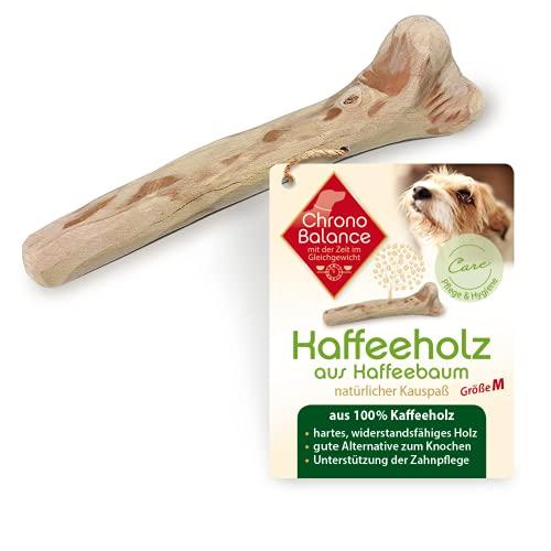 ChronoBalance® Kaffeeholz Kau-Knochen für Hunde, Hundespielzeug aus Holz - Kauspielzeug, Kaustab, und Kaustange zur Zahnpflege, als Spielzeug, Beschäftigung, Stressabbau, Mundgeruch.