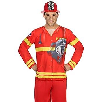 Rosso Fiori Paolo- Pompiere Costume Adulto Taglia 52-54 62091