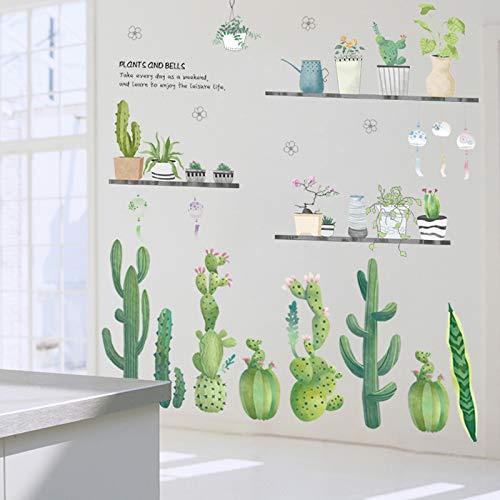 Pflanze Wallpaper selbstklebende Sofa Hintergrundbild grünes Blatt Wohnzimmer, Topf Kaktus, groß