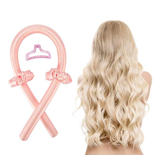 Prosper Rodillos de pelo sin calor, sin rizos de calor, cinta de seda, diadema para dormir suave diadema ondulada, rizadores de pelo, herramientas de peinado para cabello largo y mediano