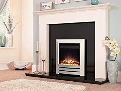 "New Designer Celsi Fire - Hearth Mounted Electric Fire 16"" Electriflame XD Camber Silver"