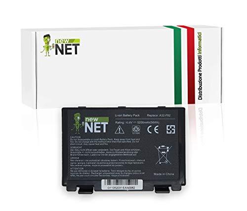 New Net - Batteria A32-F82 A32-F52 compatibile con Asus Serie X5c X5d X5dab X5dad X5dc X5di X5din X5e X5j x5d X65 X66 X70 X87 X8A X8B X8D X70 X70a X70ad X70ab X70ae X70af X70il X70io X70z [5200mAh]