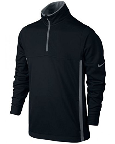 NIKE Thermal 1/2-Zip Top 2.0 Sudadera de Golf, Niños, Negro, S