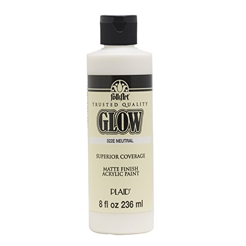 FolkArt 322E Glow in The Dark Paint, 8 oz, Neutral