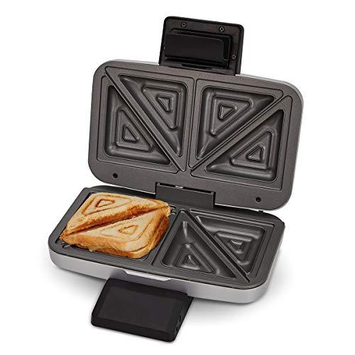 Cloer 6259 Sandwichmaker, 900 W für 2 diagonal geteilte Toasts, American Toasts, XXL Füllungen