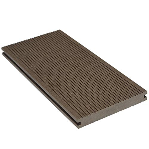 HORI® WPC-Terrassendielen massiv grau I Komplett-Set inkl. 40x60 mm Unterkonstruktion & Clips I Dielenlänge 4,00 m I Fläche 52 m²