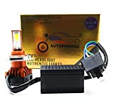 AutoPowerz LED Headlight Bulb with H4 Fitting for All Bikes. 40 WATT Hi/Low