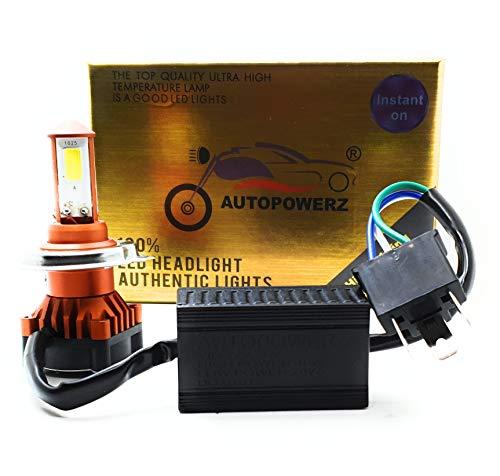 AUTOPOWERZ LED Headlight Bulb with H4 Fitting for All Bikes. 40 WATT Hi/Low Beam.