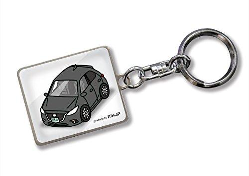 MKJP カスタムキーホルダー アクセラスポーツ BM ベース:ホワイト 車カラー:ブラック