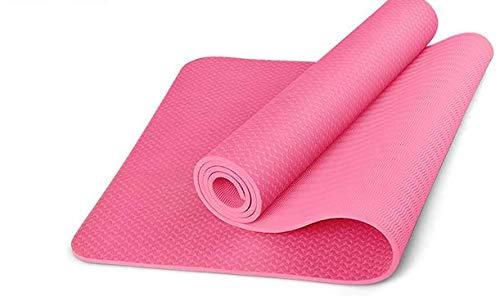NAXIAOTIAO Umweltfreundliches Material TPE-Yogamatte Verdickte Lange Yogamatte Rutschfeste, geruchlose Sportmatte,Pink