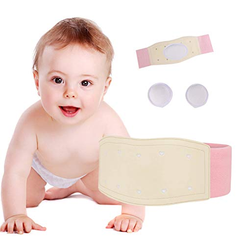 Fascia per ernia ombelicale nei neonati, supporto addominale per ombelico dei neonati, fascia regolabile rosa rosa