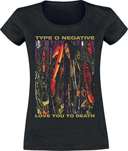 Type O Negative Love You To Death Donna T-Shirt Nero L 100% Cotone Regular