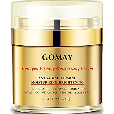 Face Cream for Anti-aging, Anti-oxidation, Moisturizing and Repairing, 3% Hydrolyzed Collagen, 2% Hyaluronic Acid, Polypeptide, Vitamin C and E-American Brand