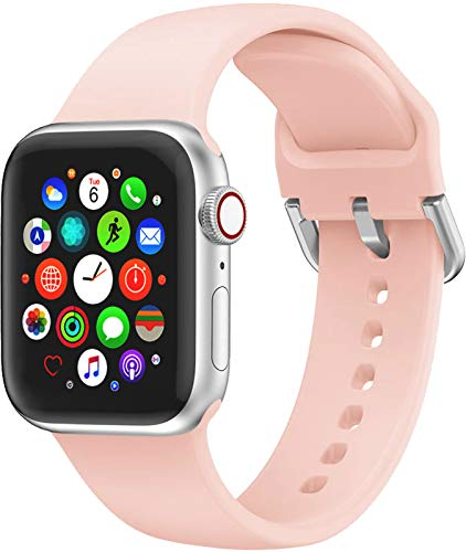 Hviosum Cinturino Compatibile per Apple Watch 45mm 44mm 42mm 41mm 40mm 38mm, Cinturino di Ricambio in Silicone per iWatch Series 7/6/5/4/3/2/1/se