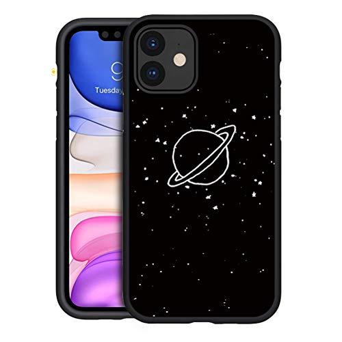 Yoedge Funda iPhone 11, Antigolpes Ultra Slim Cárcasa Silicona Negro con Dibujos Animados Diseño Protección Reforzada Bumper Case Cover para iPhone 11 Smartphone, Plantar
