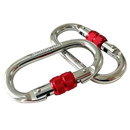 Accessori per Amaca Yoga Aerea con moschettone Ultraleggero Cromato Ovale 25KN (Rosso)
