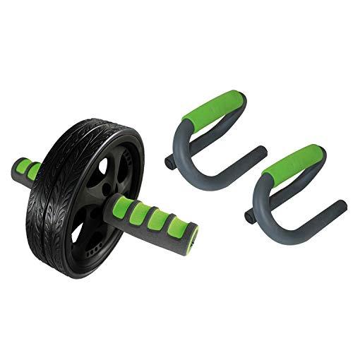 Schildkröt AB-Roller Bauchtrainer mit Push Up Bars - Home Fitness Kombi Krafttraining Functional Liegestützgriffe