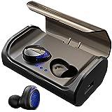 HolyHigh [ Nouveau Écouteur Bluetooth Oreillette sans Fil Bluetooth 5.0 Sportives CVC 8.0 Écouteurs Etanche IPX6 avec Micro...