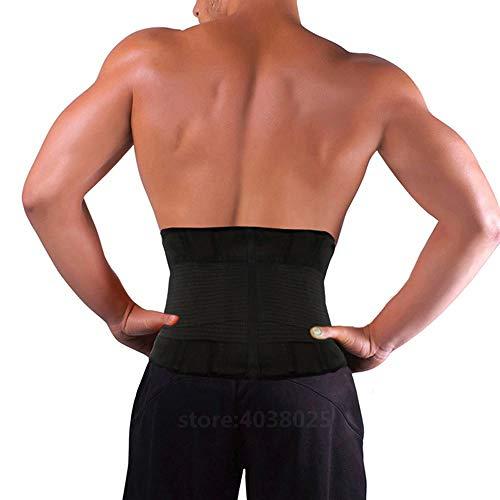 LLZGPZBD zwarte taille trimmer riem lichaamshouding corrector korset afnemen fitness riem brace terug Lordosensteun riem voor mannen vrouwen