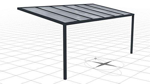 Aylux, aluminium terrasoverkapping, met 16 mm voetplaten