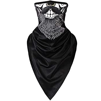 Iusun Balaclava Windproof Winter Ski Mask 3D Printing Cold Weather Face Mask Motorcycle Neck Warmer for Running Cycling Skiing Outdoor Sports Men & Women Unisex Seamless  B