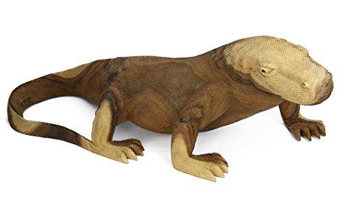 My-goodbuy24 XXL Komodo waran aus Massivholz Handgeschnitzt Figur Unikat Dragon Echse Reptil Holz Dinosaurier 80 x 37 x 26,5cm