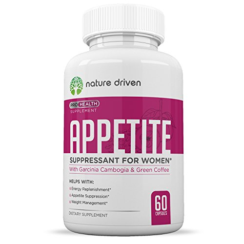 Nature Driven Best Appetite Suppressant for Women - Superior Weight Loss Formula - Powerful Natural Ingredients - Increase Energy - Boost Metabolic Rate - One Month Supply
