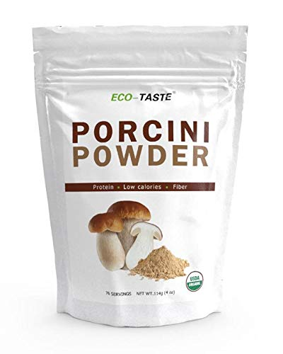Dried Porcini Mushroom Powder >100m Kosher 114g Rich of Protein, Antioxidants and Fiber Low Calories