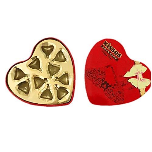 Cajas De Bombones Surtidos Caramelo De Chocolate del Corazón Caja De Regalo del Amor Fiesta De Cumpleaños De Boda