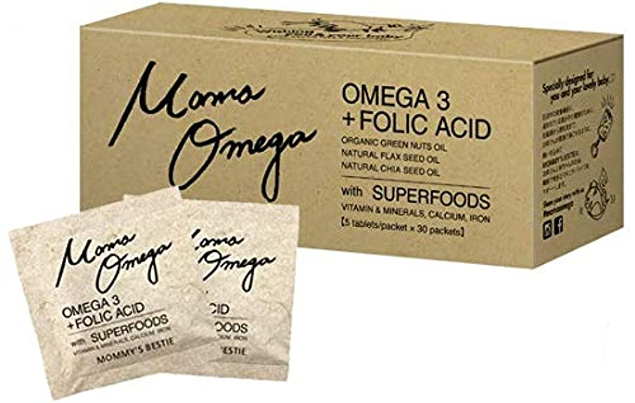計算章付属品Mama Omega ママオメガ 1か月分 30袋 葉酸 妊娠中でも飲める サプリ 元気な赤ちゃんとママのためのダブル処方! オメガ3