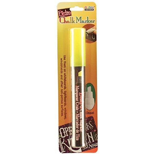 UCHIDA 483-C-F5 Chisel Tip Bistro Chalk Marker, Fluorescent Yellow