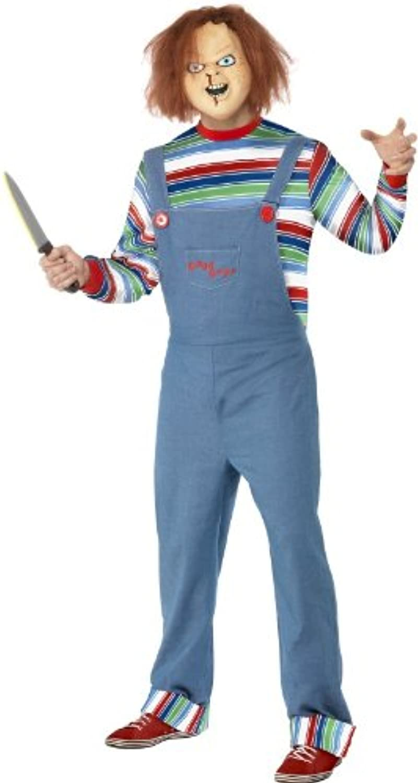 servicio de primera clase Desconocido Fancy Dress To To To Impress - Disfraz para adulto de Chucky el muñeco diabólico (pecho  96 5-101 cm  largo interior de la pernera  83 cm)  tienda de bajo costo