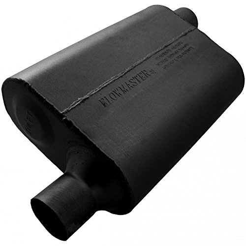Flowmaster 942443 40 Delta Flow Muffler - 2.25 Offset IN / 2.25 Offset OUT - Aggressive Sound by Flowmaster