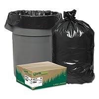 webrnw5820–リサイクル、ライナー、55–60gal、2Mil、38x 58、ブラック、100/カートン