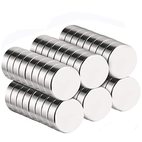 Temporaryt 50 Stücke Mini Magnete Rund 10 x 3mm mit Aufbewahrungs Box, Magnete für Pinnwand, Whiteboard, Magnettafel
