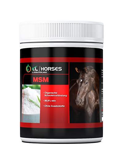Kräuterland - MSM Pulver Pferde 1kg - 99,9% hochrein und hochdosiert - Premium Methylsulfonylmethan für Tiere