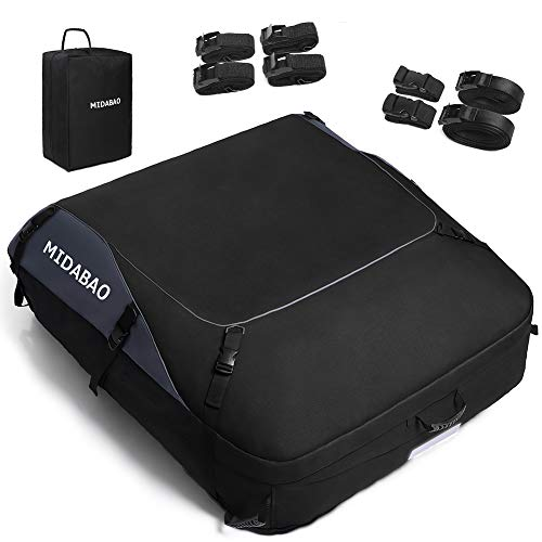 MIDABAO 20 Cubic Waterproof Duty Car Roof Top Carrier-Car Cargo Roof Bag Car Roof Top Carrier - Waterproof & Coated Zippers - for Cars with or Without Racks