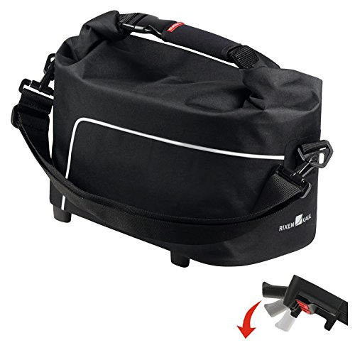 KLICKfix Unisex– Erwachsene Waterproof Gepacktasche, schwarz, 1size