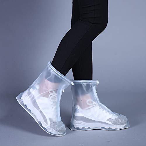Wffo New Durable Rain Shoes Boots Covers Overshoes Galoshes Travel Suitable for Men, Women,Kids (L)