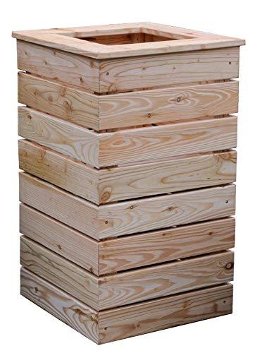 Hochbeet quadratisch 40x40x72 aus Holz Lärche Blumensäule für Balkon Garten