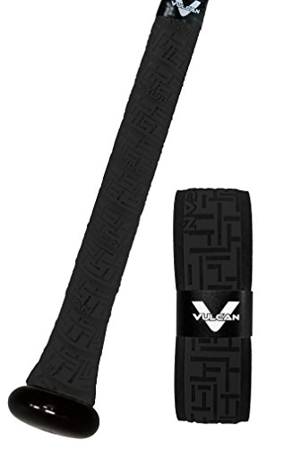 Vulcan Bat Grip, Vulcan 1.75mm Bat Grip, Black