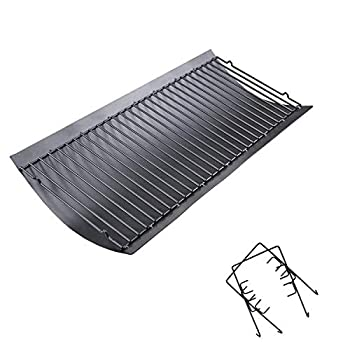 Uniflasy 27 Inches Ash Pan/Drip Pan for Chargriller 1224 1324 2121 2222 2727 2828 2929 Charcoal Grills Charbroil 17302056 Grill Grates Replacement Part with 2pcs Fire Grate Hanger