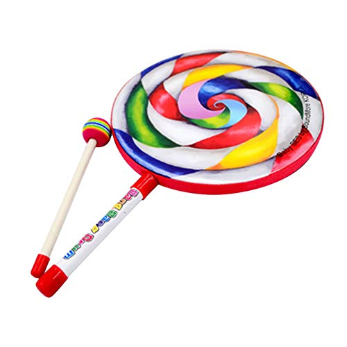JKMQA dx Toys Lolly Drum Percussion Rainbow Musical Stick Set Early Educational Teaching Aids Give Children Best Enlightenment Toy Gift (Color : B)