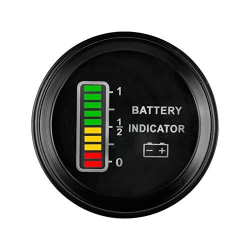 Runleader, RL-BI011A, indicatore di batteria LCD BI011A 12 V/24 V/36 V/48 V per ATV, UTV, trattori, auto da golf, veicoli per la pulizia, carrelli elevatori, camion, veicoli Club Car