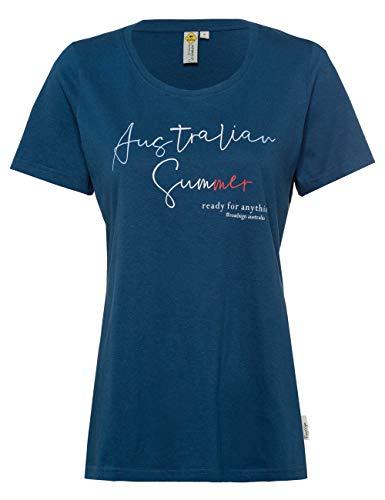 ROADSIGN Australia Damen T-Shirt mit Australien-Schriftzug in Farbmix Navy   XL