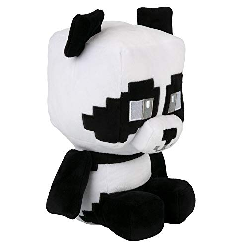 """JINX Minecraft Crafter Panda Plush Stuffed Toy, Black & White, 8.75"""" Tall"""