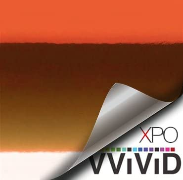 VViViD Supercast Orange Conform Chrome Metallic Finish Stretch Vinyl Wrap Film Decal Sheet Roll product image