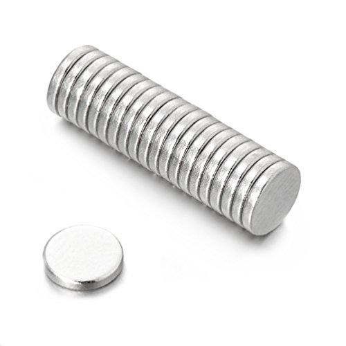 Oblique-Unique® 20 Neodym-Supermagnete 6 x 1 mm